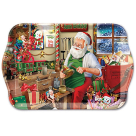 Tray Melamine 13X21cm Santa's Workshop