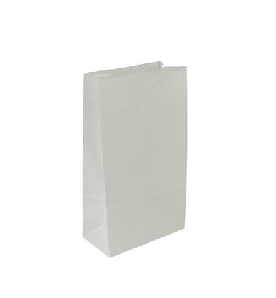 Witte papieren zakjes met bodem