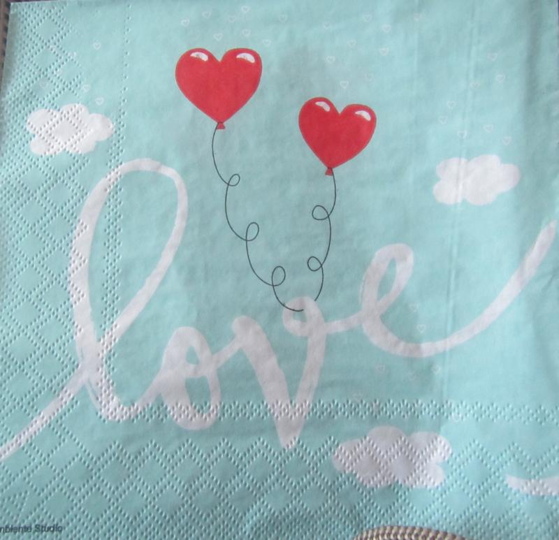 Love balloons mint L10