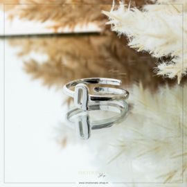 Imotionals One Size Letter Ring Q Zilver