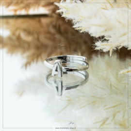 Imotionals One Size Letter Ring A Zilver