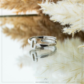 Imotionals One Size Letter Ring C Zilver