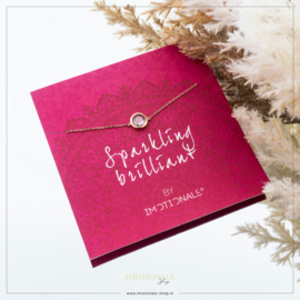 Imotionals Armband CZ Stone Crystal Rosé Op Giftcard