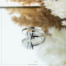 Imotionals One Size Letter Ring W Zilver