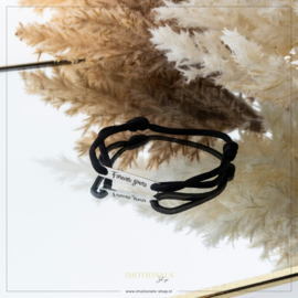 Imotionals Sik Cord Armband Forever Yours Zilverkleurig