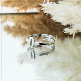 Imotionals One Size Letter Ring D Zilver
