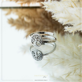 Imotionals One Size Ring Tree Of Life Zilver