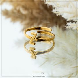 Imotionals One Size Letter Ring Z Goudkleurig