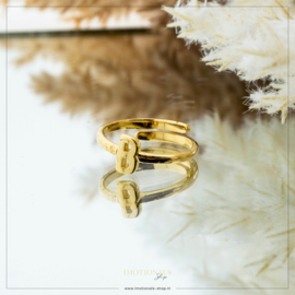 Imotionals One Size Letter Ring B Goudkleurig