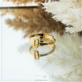 Imotionals One Size Letter Ring D Goudkleurig