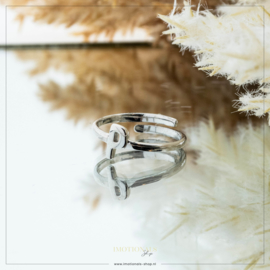 Imotionals One Size Letter Ring P Zilver
