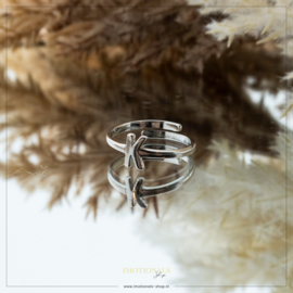 Imotionals One Size Letter Ring K Zilver