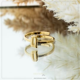 Imotionals One Size Letter Ring Q Goudkleurig