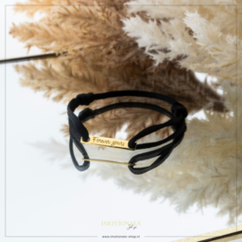 Imotionals Sik Cord Armband Forever Yours Goudkleurig