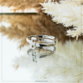 Imotionals One Size Letter Ring E Zilver