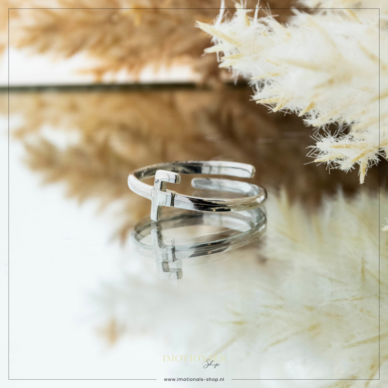 Imotionals One Size Letter Ring F Zilver