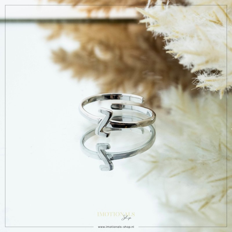 Imotionals One Size Letter Ring Z Zilver