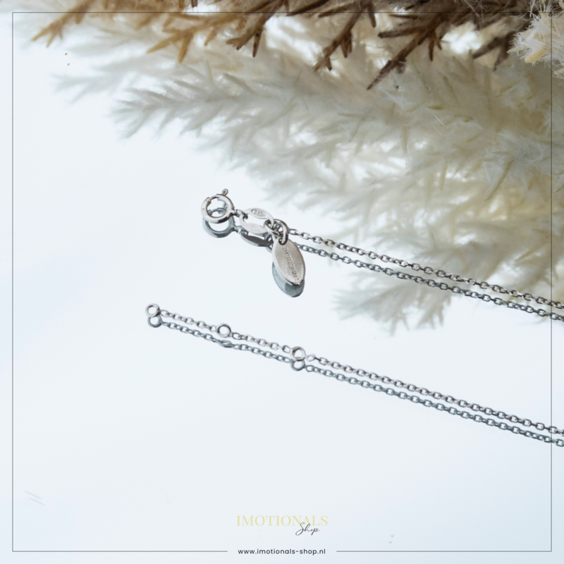 Imotionals Ketting Anker Zilver 45cm
