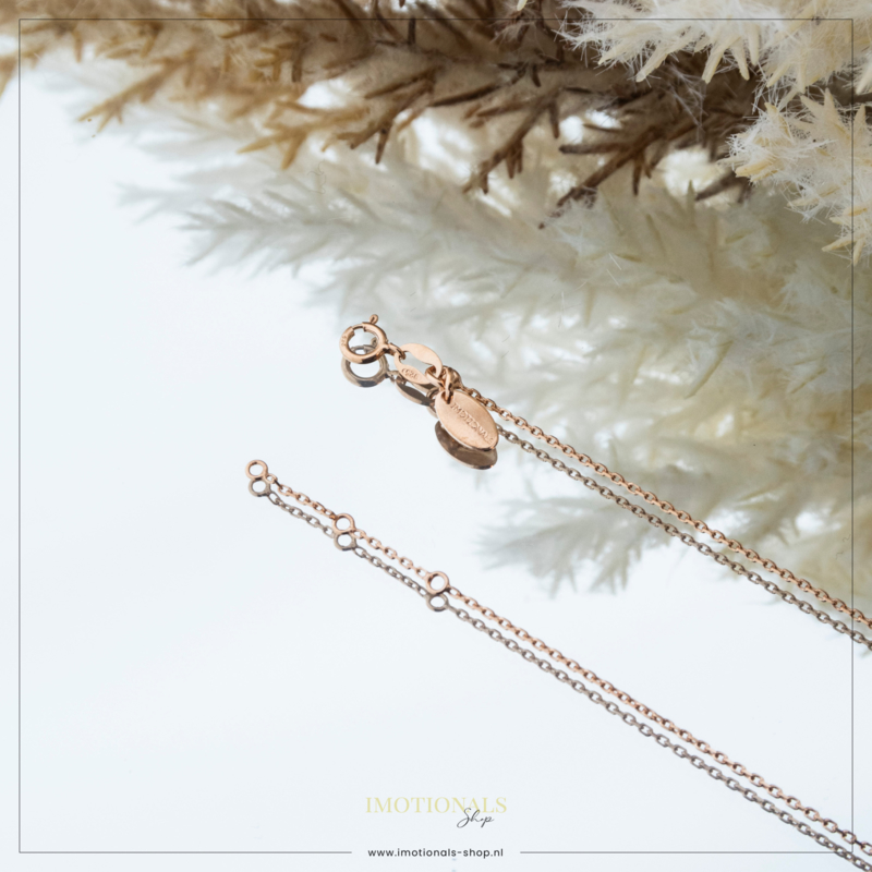 Imotionals Ketting Anker Rosé 45cm