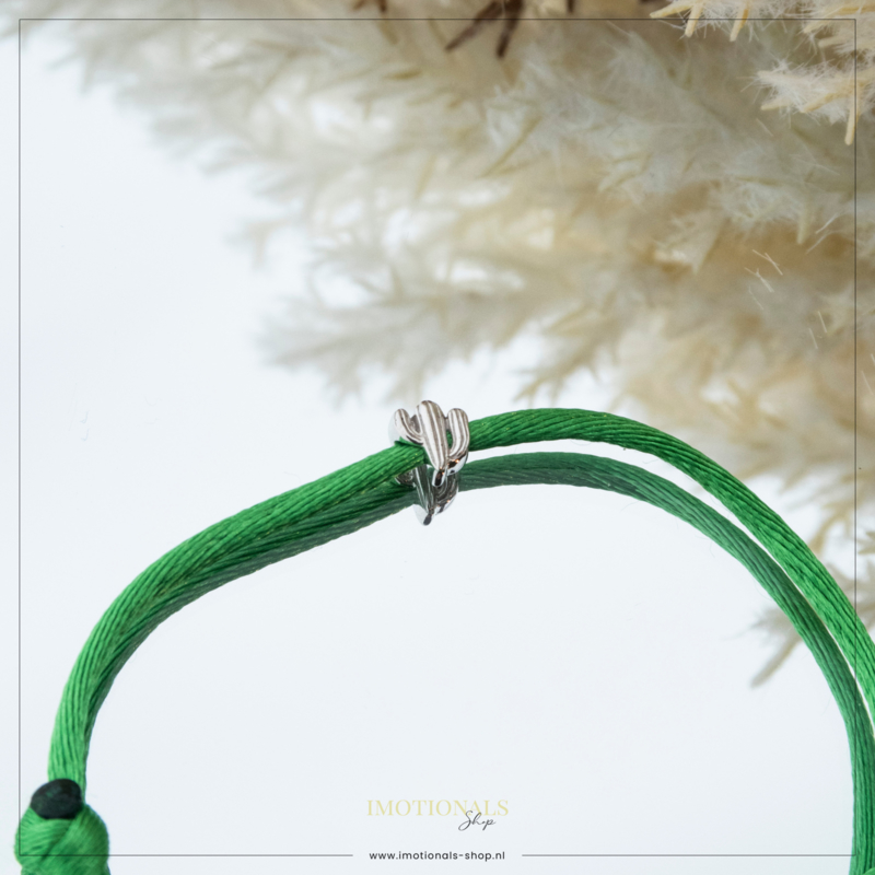 Imotionals Silk Cords Symbool Cactus Zilver