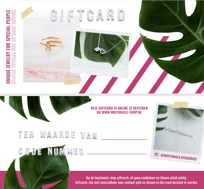 Imotionals Giftcard €75,-
