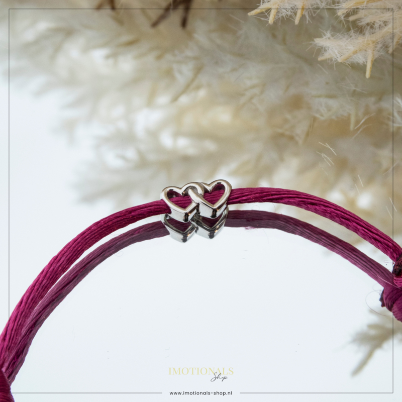 Imotionals Silk Cords Symbool Double Love Zilver