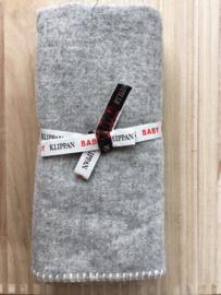 Softwool baby - wiegdeken grijs