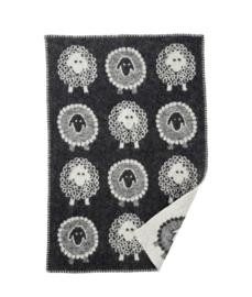Woolly baby- wiegdeken Gotlandwol zwart
