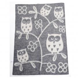 Tree Owl grijs  - wiegdeken wol