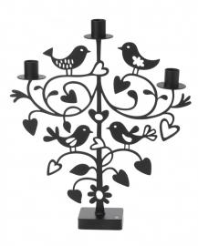 Bengt & Lotta kandelaar Love  Birds zwart