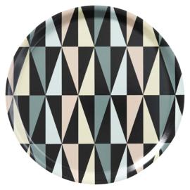 Rond dienblad Art Deco Ø38 cm