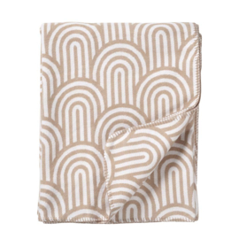 Klippan deken brushed cotton Arcade beige