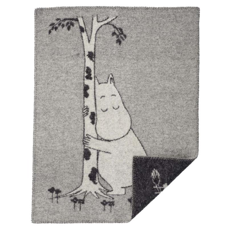 Moomin tree hug - wiegdeken wol