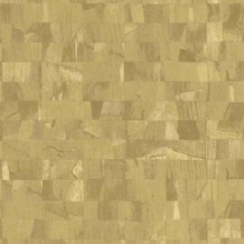 GEEL GROENE MARMERBLOKKEN BEHANG - Rasch Textil ABACA 229355