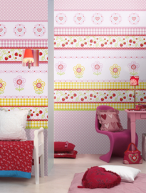 GIRLZ PINK FOTOBEHANG - Kidswalls Kay & Liv INK7030