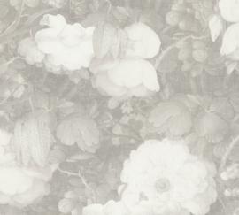 GROTE GRIJZE BLOEMEN BEHANG - AS Creation Metropolitan Stories 369214