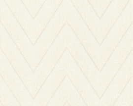 CREME ZIGZAG BEHANG - AS Creation Hygge 363842