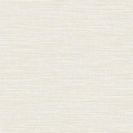LICHT BEIGE GRIJS RAFFIA STREEP BEHANG - Caselio WARA  69581000