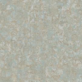 ZILVER/GROEN GEMELEERD METALLIC BEHANG - Casadeco Oxyde 29166117
