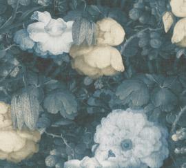 GROTE PETROL BLOEMEN BEHANG - AS Creation Metropolitan Stories 369213