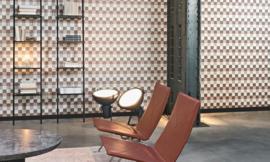 MOZAIEK GESTIKT LEDERLOOK BEHANG - ARTE Atelier PLAZA 21001
