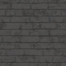 DONKERGRIJZE STENEN BEHANG - Behangexpresse What's Up 2 WU20636 ✿✿✿