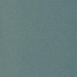 BLAUW/GOUD LINNENLOOK BEHANG - Caselio Linen 68526320