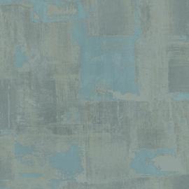 TURQUOISE VEGEN BEHANG - Casadeco Oxyde 29176127