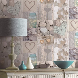 RUSTIC HEART NATURAL BEHANG - Arthouse Options 2 669600