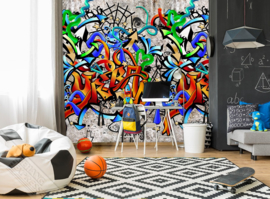 GRAFFITI FOTOBEHANG - KidsWalls Thomas INK7101