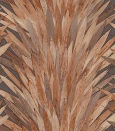 WARM BRUINE PANDANBLADEREN BEHANG - ARTE Selva ABANICO 34003