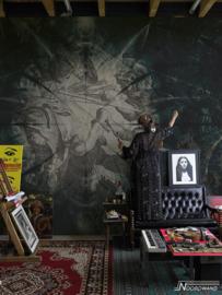 Fotobehang COSMIC (M) - Vanilla Lime Wallpaper Mural 014124