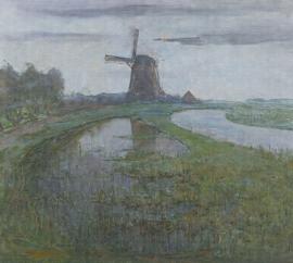 MILL IN THE MOONLIGHT 8033 FOTOBEHANG - Dutch Painted Memories
