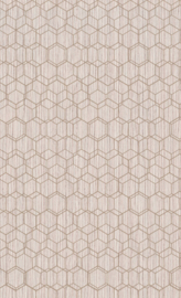OUD ROZE HEXAGON BEHANG - BN Wallcoverings Dimensions 219625